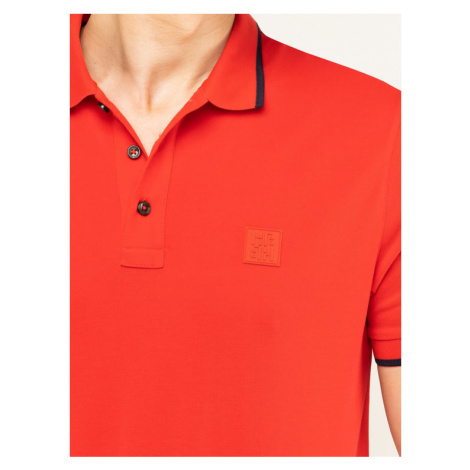 Boss Polo Parlay 73 50424202 Czerwony Regular Fit Hugo Boss