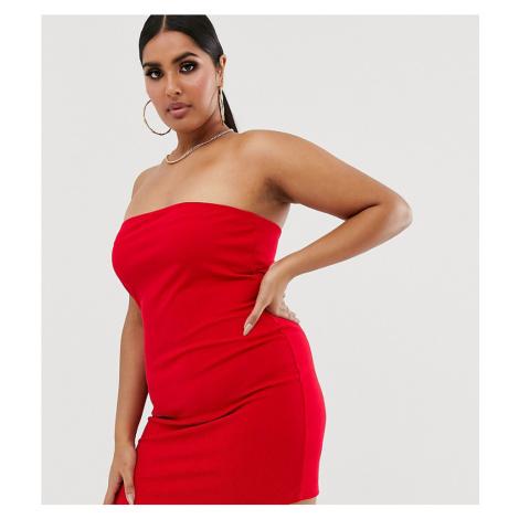 Fashionkilla Plus going out bandeau mini dress red