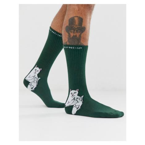 RIPNDIP Lord Nermal socks in green Rip N Dip