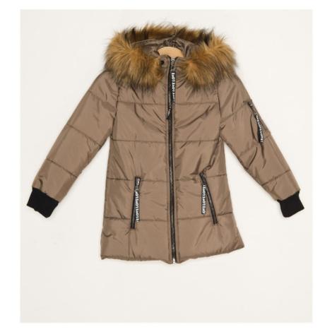 Brązowe dziewczęce kurtki zimowe