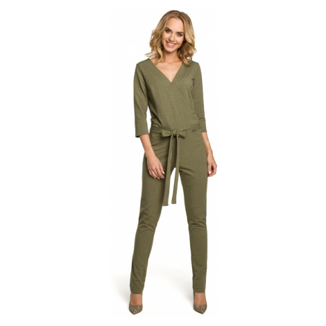 Made Of Emotion Woman's Jumpsuit M330 Khaki