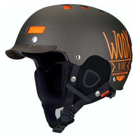 Kask narciarski / snowboardowy z regulacją | Brązowy Brainsaver Brown Woox