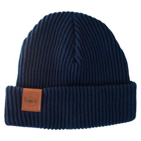 Kabak Unisex's Hat Ciepły gruba dzianinowa bawełna granatowa-70449D