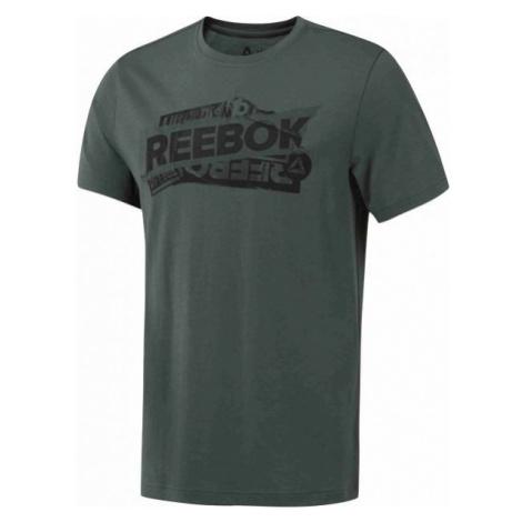 Reebok M OPP ciemnozielony M - T-shirt męski