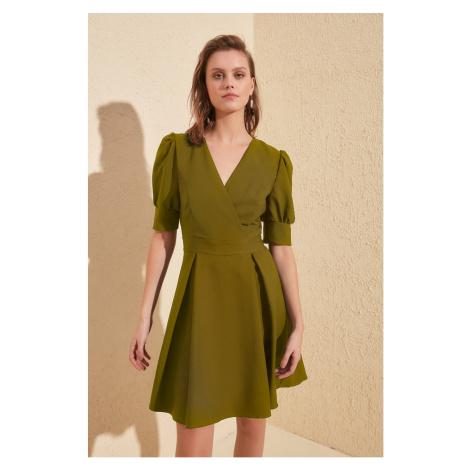 Trendyol Green Cruise Neck Dress