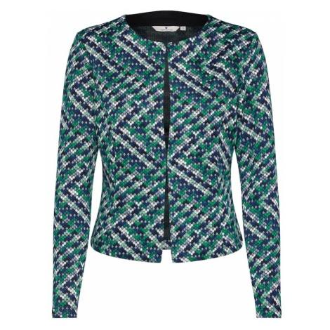TOM TAILOR Marynkarka 'colorful jersey Blazer 1/1' niebieski / zielony