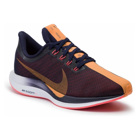 Buty NIKE - Zoom Pegasus 35 Turbo AJ4115 486 Blackened Blue/Orange Peel