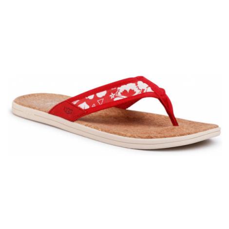 Ugg Japonki M Seaside Flip Canvas 11080474 Czerwony