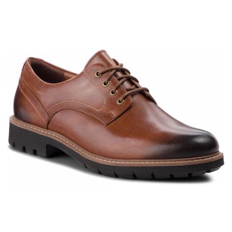 Półbuty CLARKS - Batcombe Hall 261275517 Dark Tan Leather