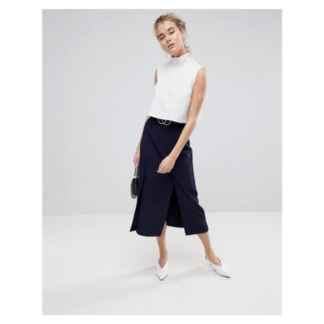 ASOS Tailored Column Skirt With Split Detail