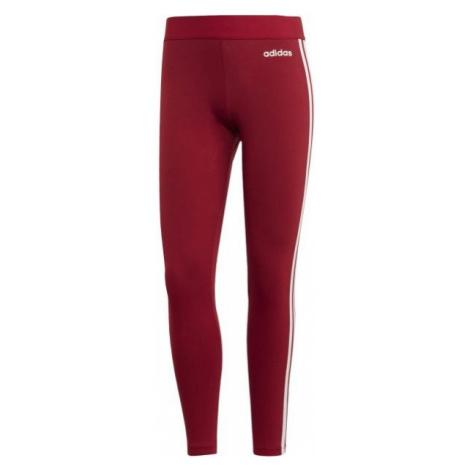 adidas ESSENTIALS 3S TIGHT czerwony S - Legginsy damskie