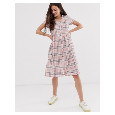 Daisy Street midi dress in check