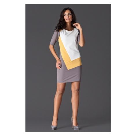 Sukienka damska M118 yellow Figl