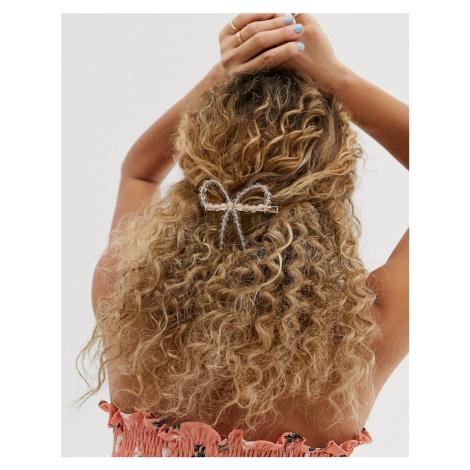 ASOS DESIGN glitter bead bow hair clip