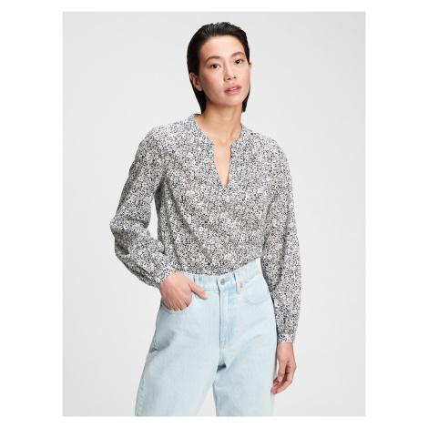 GAP kolorowa koszula damska ls shirred pop