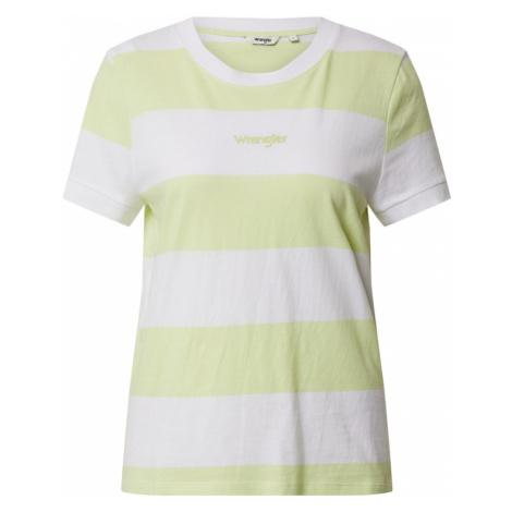 WRANGLER Koszulka żółty / biały