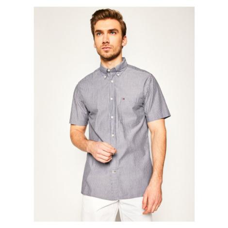 Tommy Hilfiger Koszula Fine Stripe Shirt MW0MW12804 Granatowy Regular Fit