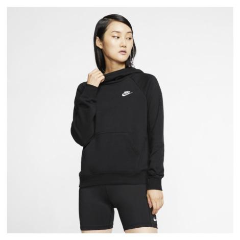 Damska dzianinowa bluza z kapturem i kominem Nike Sportswear Essential - Czerń