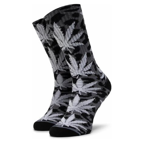 Skarpety Wysokie Unisex HUF - Neo Leopard Plantlife Sock SK00448 r.OS Black