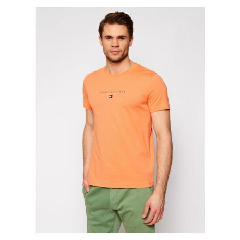 Tommy Hilfiger T-Shirt Essential MW0MW17676 Pomarańczowy Regular Fit
