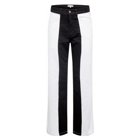 NU-IN Jeansy biały denim / czarny denim