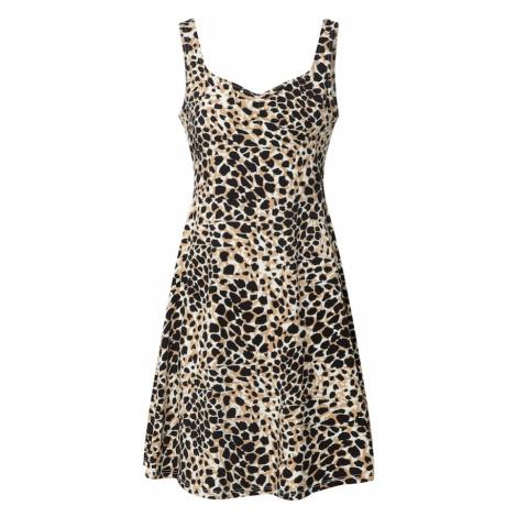 Dorothy Perkins Letnia sukienka 'Animal Ruched' biały / beżowy
