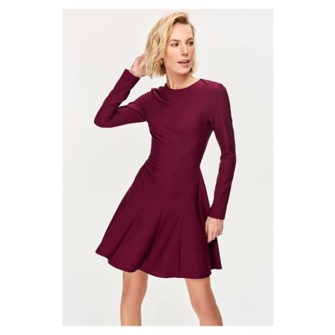 Trendyol Purple Hand-Wheel Dress