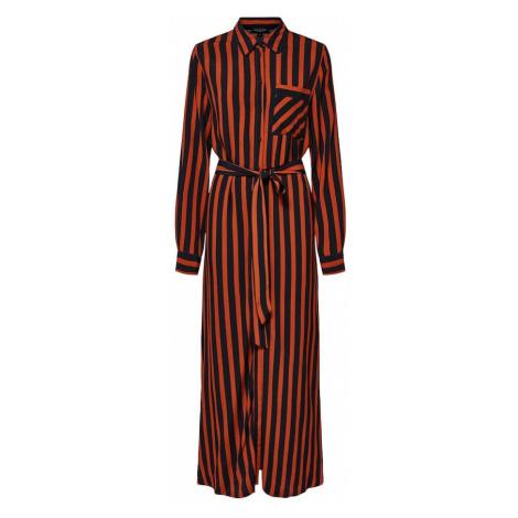 SELECTED FEMME Sukienka koszulowa ciemnopomarańczowy / czarny