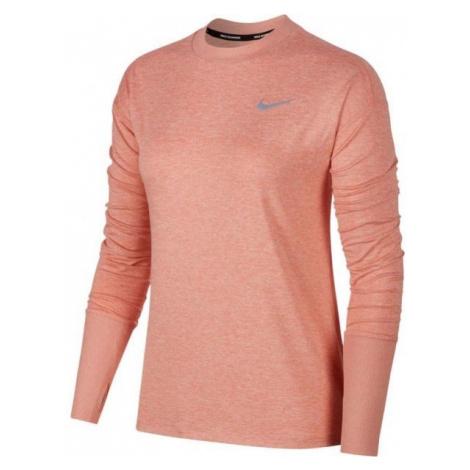 Nike ELMNT TOP CREW różowy S - Koszulka do biegania damska