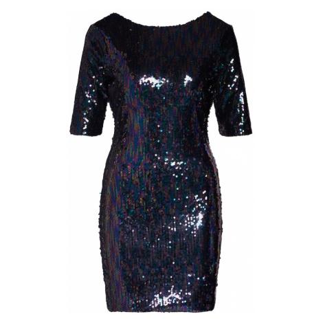Boohoo Sukienka 'Sequin Mini Dress with Scoop Back' niebieski