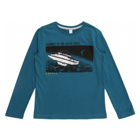 ESPRIT Koszulka 'TEE-SHIRT' turkusowy / czarny