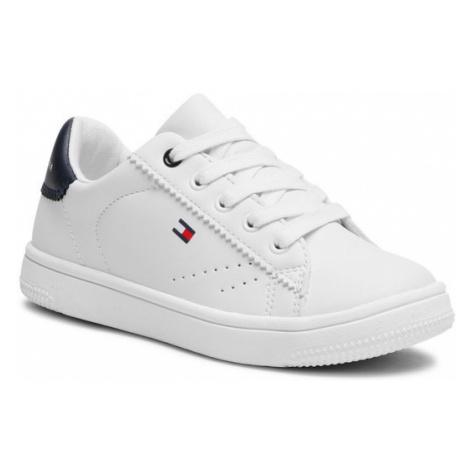 Tommy Hilfiger Sneakersy Low Cut Lace-Up Sneaker T3B4-31086-0193 M Biały