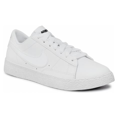 Buty NIKE - Blazer Low (GS) 555190 102 White/White/Black