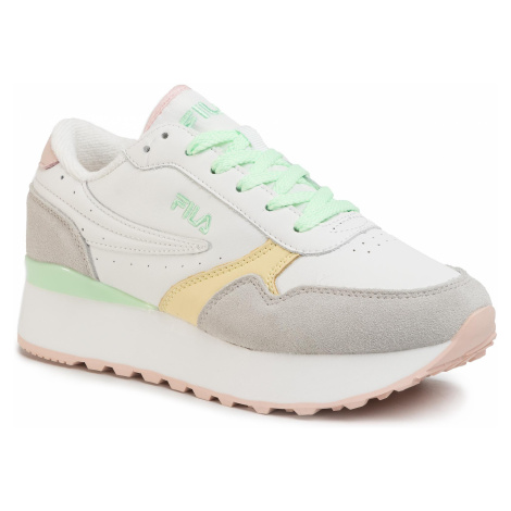 Sneakersy FILA - Orbit Zeppa Cb Wmn 1010897.93M White/Green Ash