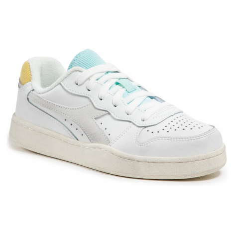 Sneakersy DIADORA - Mi Basket Low Icona Wn 501.177079 01 C9160 White/Goldfinch/Blue Tint