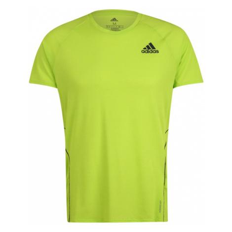 ADIDAS PERFORMANCE Koszulka funkcyjna czarny / neonowa zieleń
