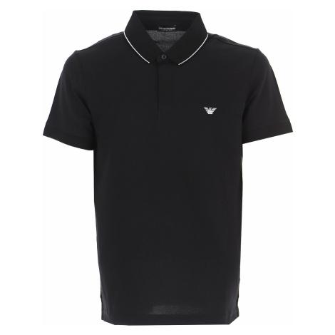 Emporio Armani Koszulka Polo dla Mężczyzn Na Wyprzedaży, czarny, Bawełna, 2019