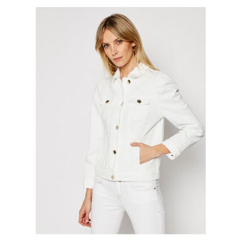 Pinko Kurtka jeansowa Betty 20211 PDEN 1J10N9 Y6VT Biały Regular Fit