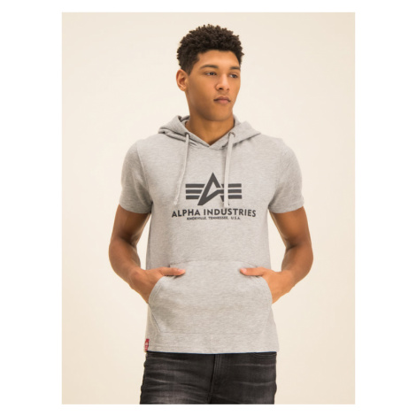 Alpha Industries Bluza Basic T Hooded 126507 Szary Regular Fit