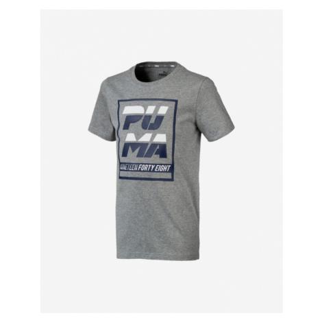 Puma Alpha Graphic Koszulka dziecięce Szary