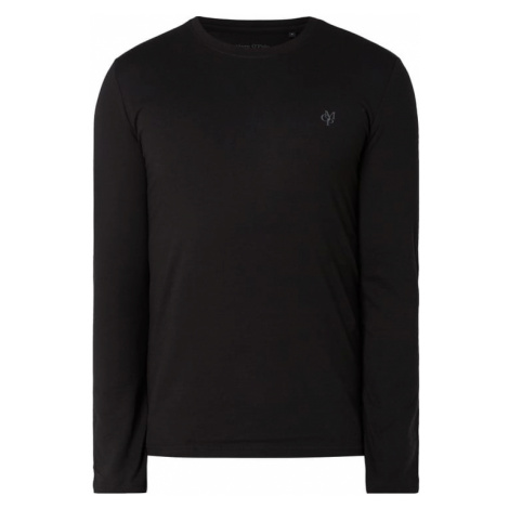 Bluzka z długim rękawem o kroju shaped fit z nadrukiem z logo Marc O'Polo