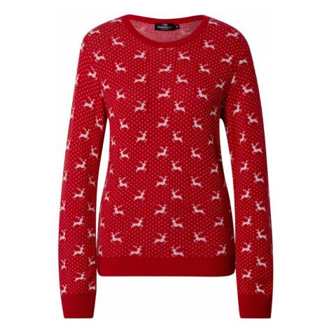 Zwillingsherz Sweter czerwony / biały