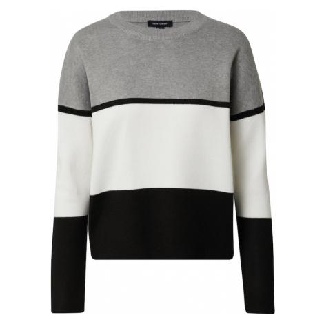 NEW LOOK Sweter 'ROBIN' biały / czarny / szary