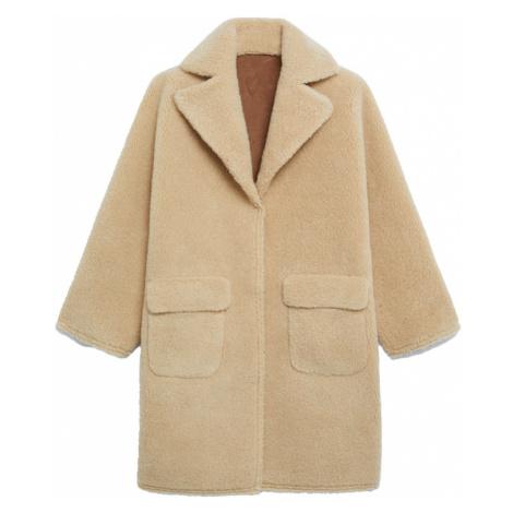 MANGO Płaszcz zimowy 'STAY' brązowy / beżowy