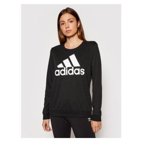 Adidas Bluza Essentials Logo GM5519 Czarny Relaxed Fit