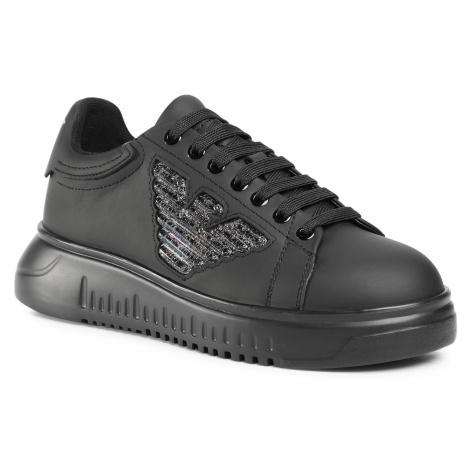 Sneakersy EMPORIO ARMANI - X3X024 XM520 K001 Black/Black