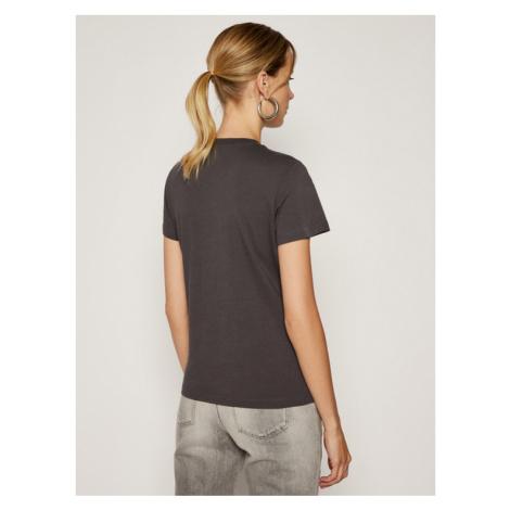 Lee T-Shirt Logo Tee L44CEPON Szary Slim Fit