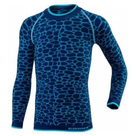 Klimatex DELI niebieski 146-158 - Funkcjonalna koszulka dziecięca termo