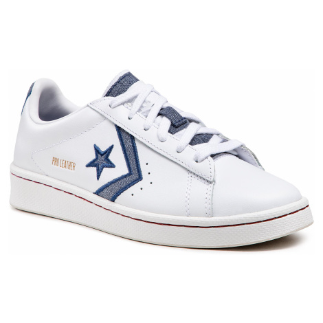 Sneakersy CONVERSE - Pro Leather Ox 168787C White/Navy/Team Red