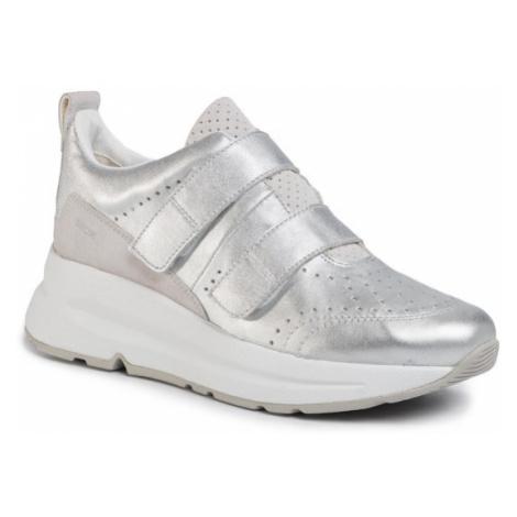 Geox Sneakersy D Backsie B D02FLB 0KY22 C0434 Srebrny